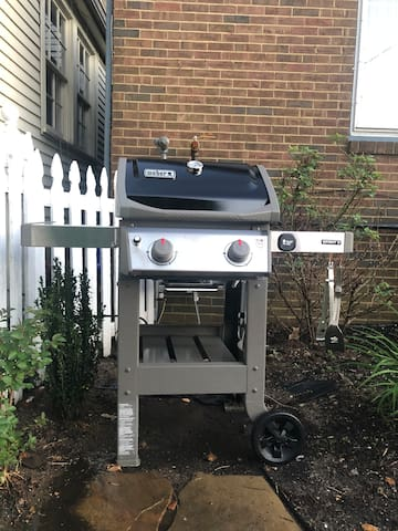 Natural gas Weber grill!