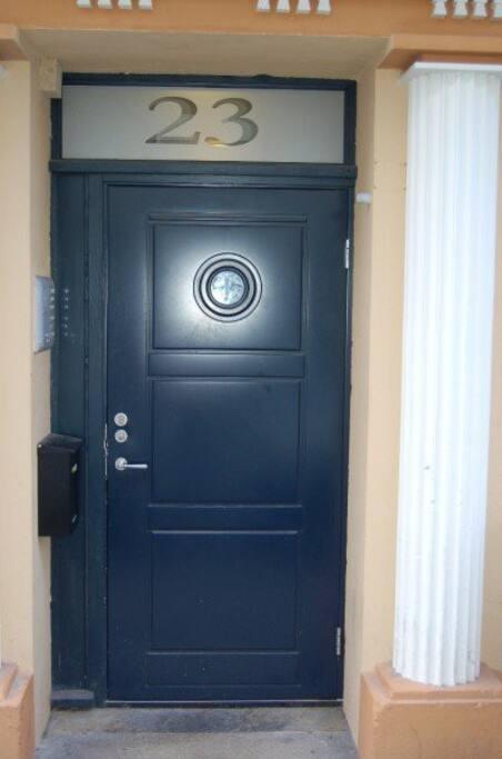 The door. Welcome!