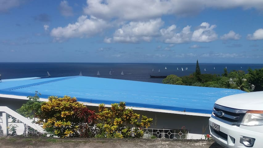 Blue roof...
