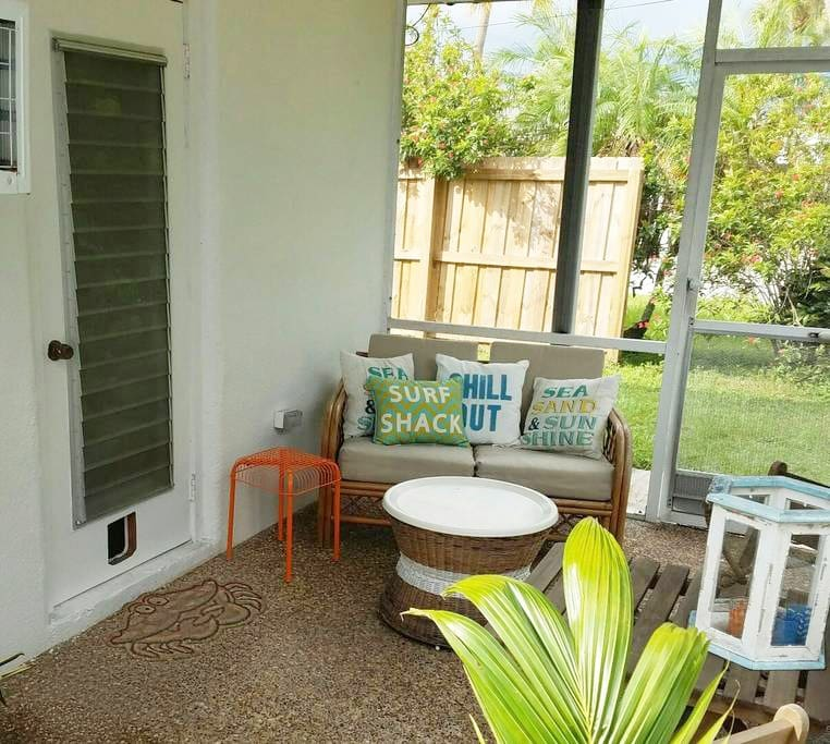 Private patio off of your bedroom. Drink your coffee, read a book and just relax!