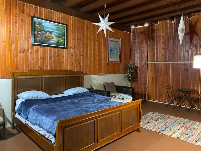 Double size, beautiful cabin room close to midtown