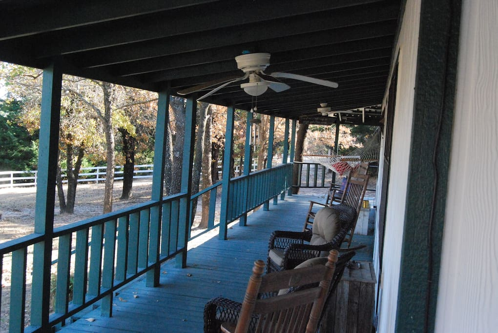 Happiness is a green porch!
