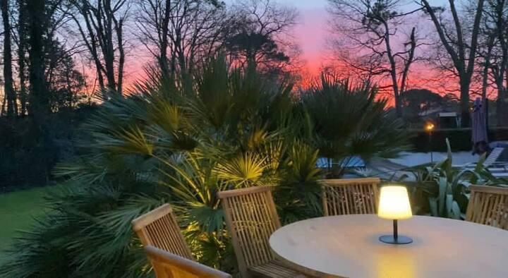 Villa dans un parc avec piscine Hossegor Golf