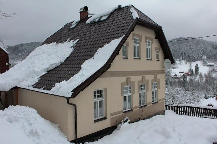 Pohodlná chata na horách