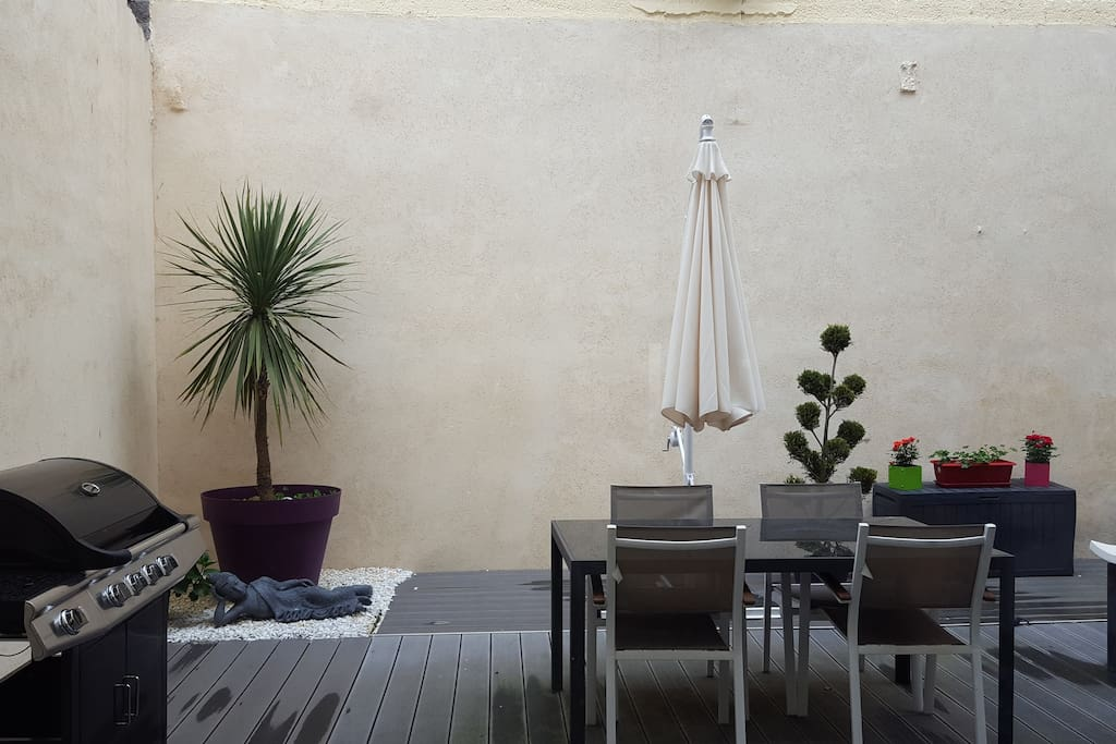 La terrasse de 50 m2