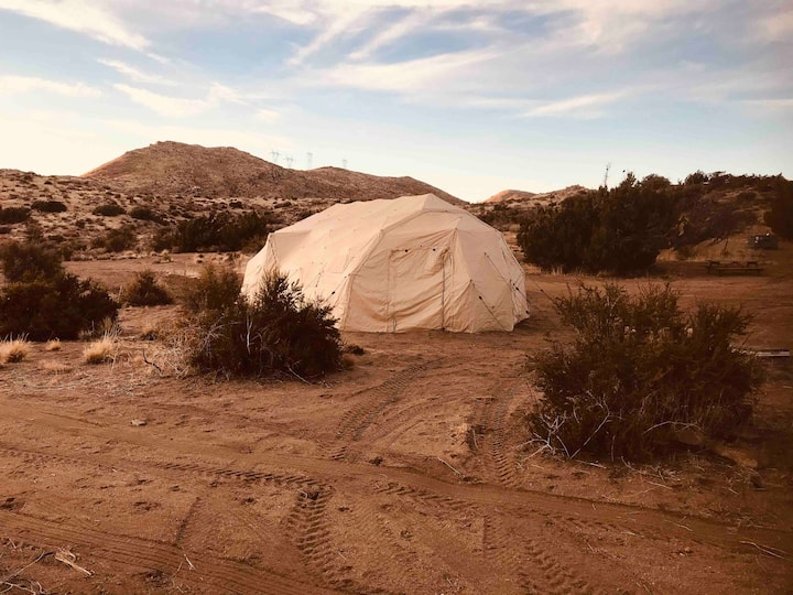 Glamping in the Mountains of the Mojave Desert