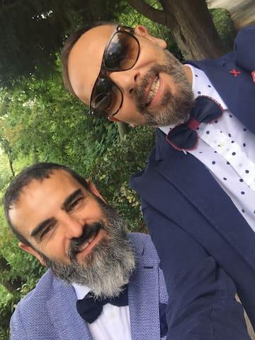 Pablo & Valerio ...  un flower designer ed un colour trainer  miei co-host