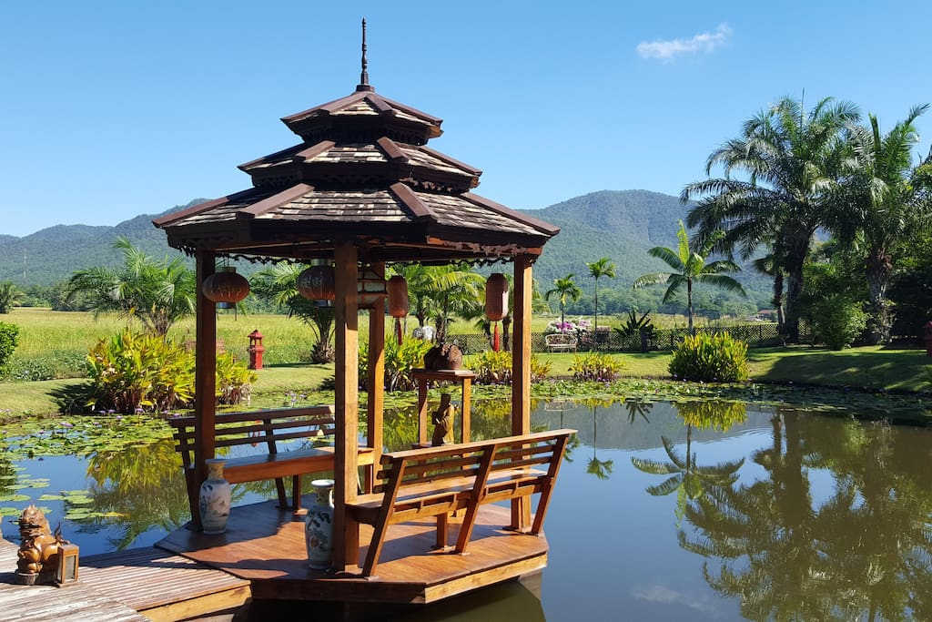 Chinese Pagoda on the Lake