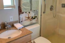 Full master bath with shower.