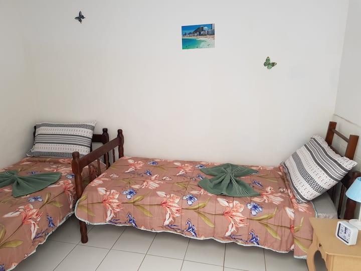 8-Twin Room Botafogo, Copacabana beach