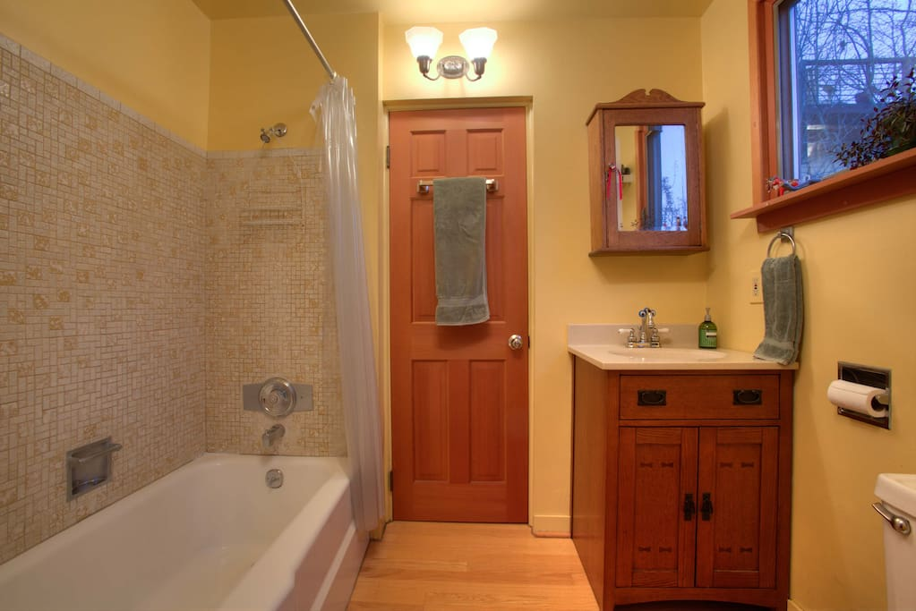 Private bedroom on main floor: full bath/shower, southern view