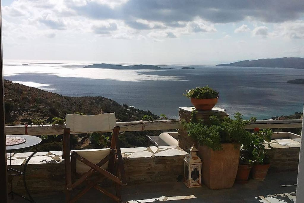 Amazing views and ambience in andros island houses for for Andros kitchen bath designs