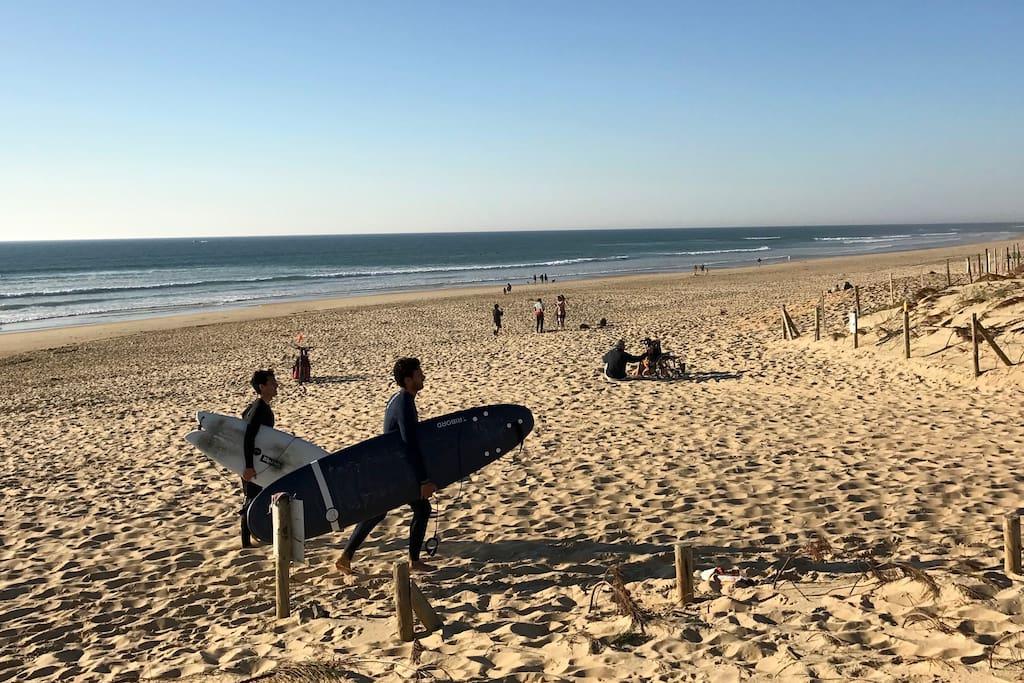La plage de l'autre côté de la dune...