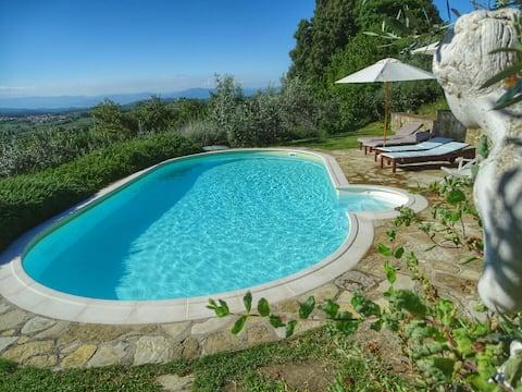 Apartamento en granja orgánica en las colinas del Chianti