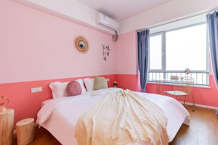 【宿途·粉红色的记忆】温馨一居|万象城|奥体中心|省博物馆|经十路