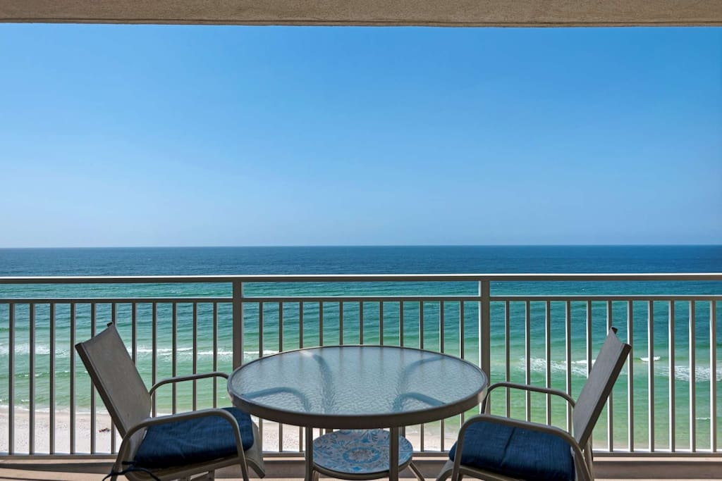 Beautiful view from this 11th Floor unit!  Free Beach Service includes 2 chair, two cushions and umbrella