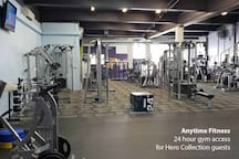 Free gym access to Anytime Fitness