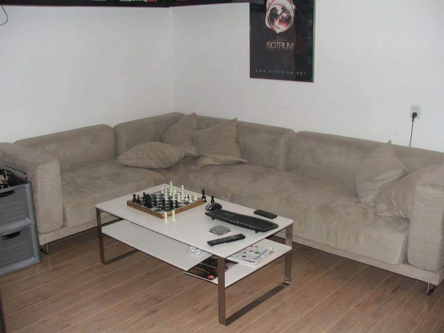 The living room will get a make over. Couch will become smaller and 2 big chairs will be added in February.