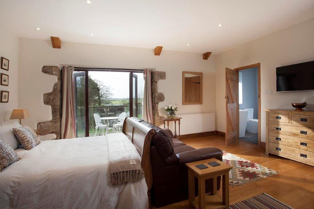 Your own private balcony with views across the Tamar Valley