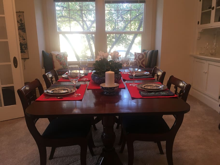 Formal Dining Area and Window Seat