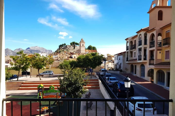 Spanish Village Apartment in Polop