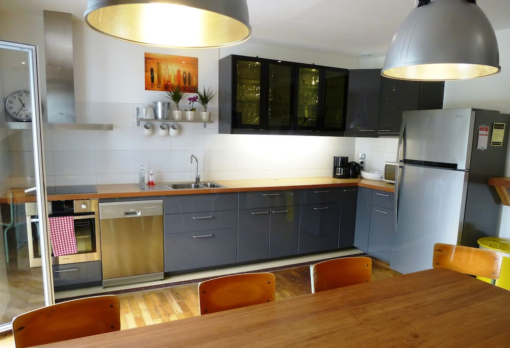 The kitchen where we serve breakfast every morning or where you can prepare your lunch and dinner