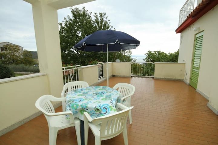 One bedroom apartment with terrace and sea view Labin (A-7468-a)