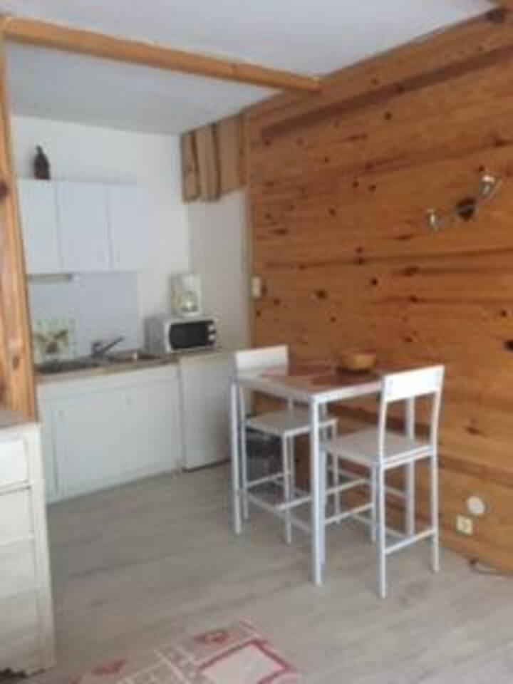 Studio 2 personnes à Orelle en Maurienne.