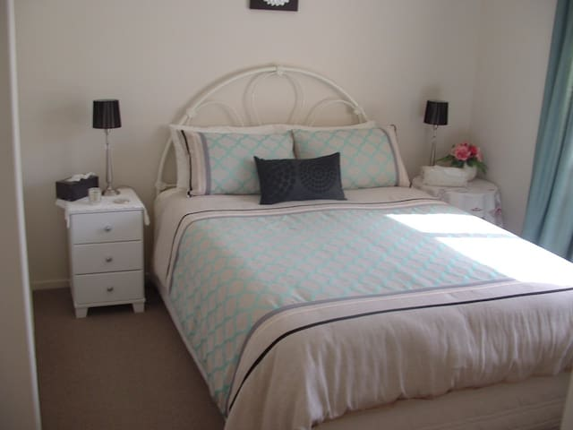 Beautiful decor room with Queen bed