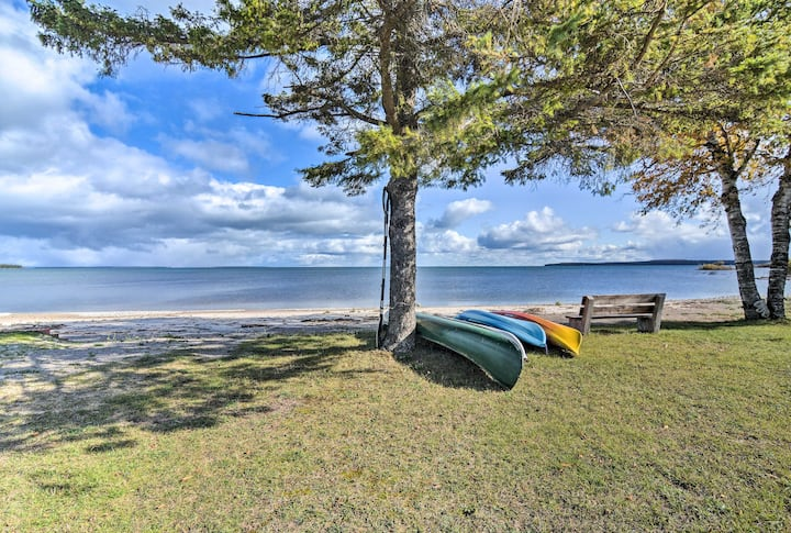 St. Ignace Cottage w/ Deck & Beach on Lake Huron!