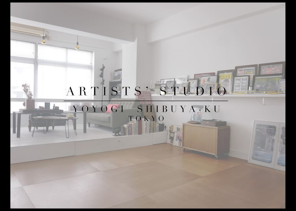 artist studio loft appartment lofts louer shibuya ku t ky to japon. Black Bedroom Furniture Sets. Home Design Ideas