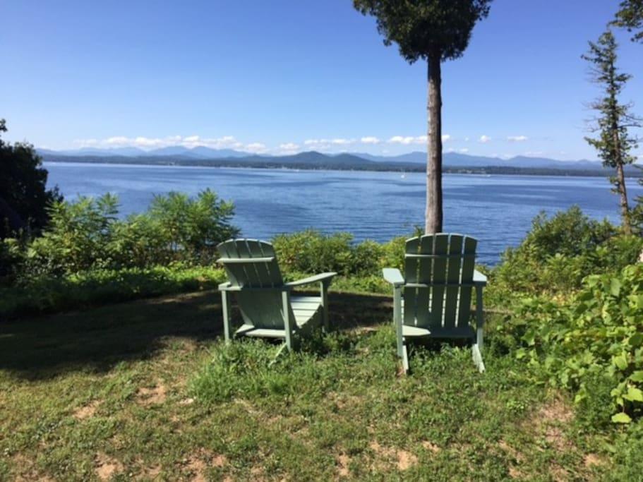 Sit by the lake