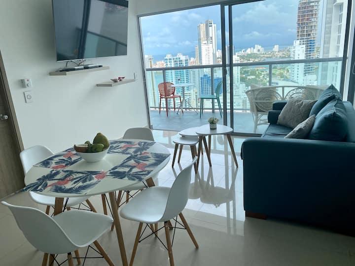 Piso 33 apartamento en Bocagrande Cartagena