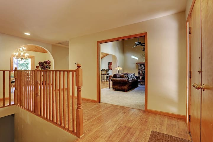 Entry looking into Family Room
