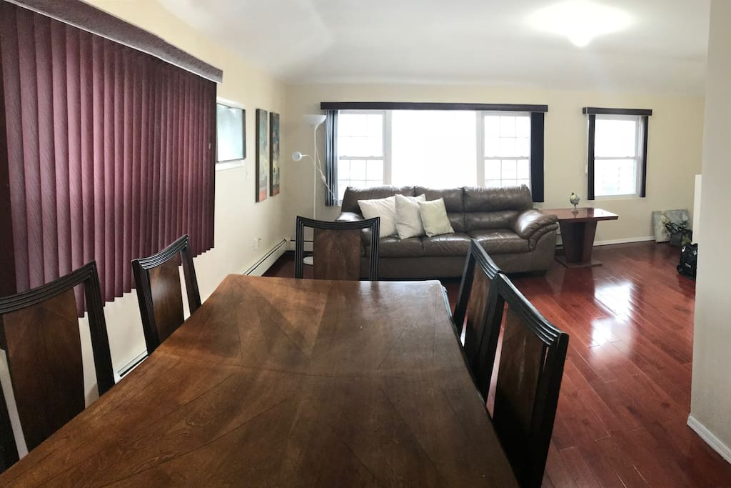 From dinning table to living room
