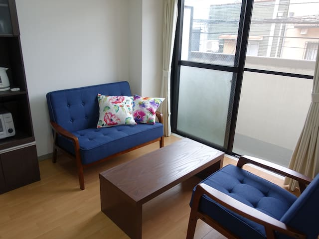 Only you! 2 bed rooms/living/kitchen, bath,toilet.