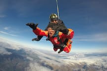 Guest Chun from Beijing enjoying a SkyDive view on his visit with us in Wanaka.