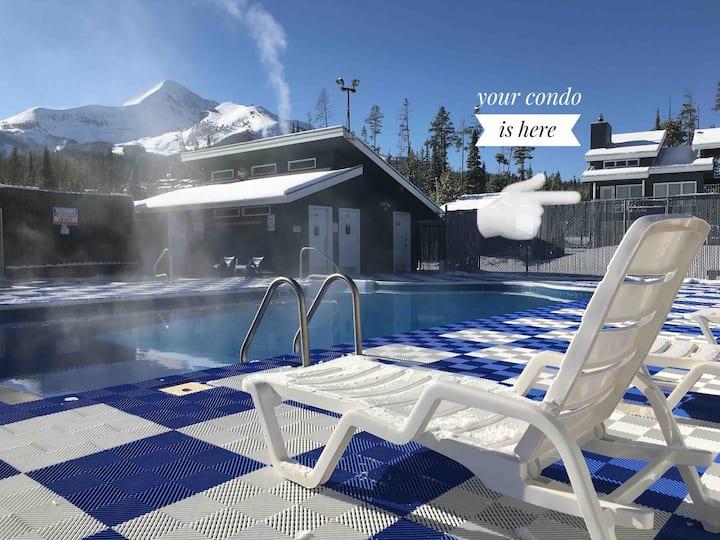 Big Sky ❄ Ski in ❄ Pool/Hot Tub Full Condo 6-8 PPL