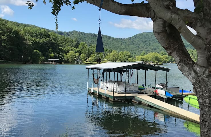 The water is very clear and great for swimming. The air temps are 10-16 degrees cooler at night than Atlanta and 5 to 10 degrees cooler during the day.