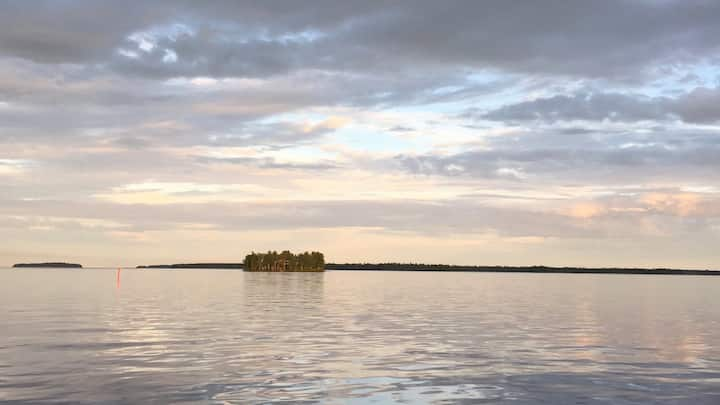 Private island in the land of the midnight sun