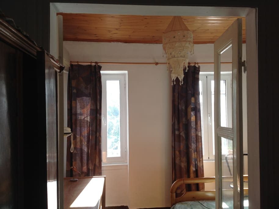 Double Bedroom with beautiful sunny aspect and view of countryside