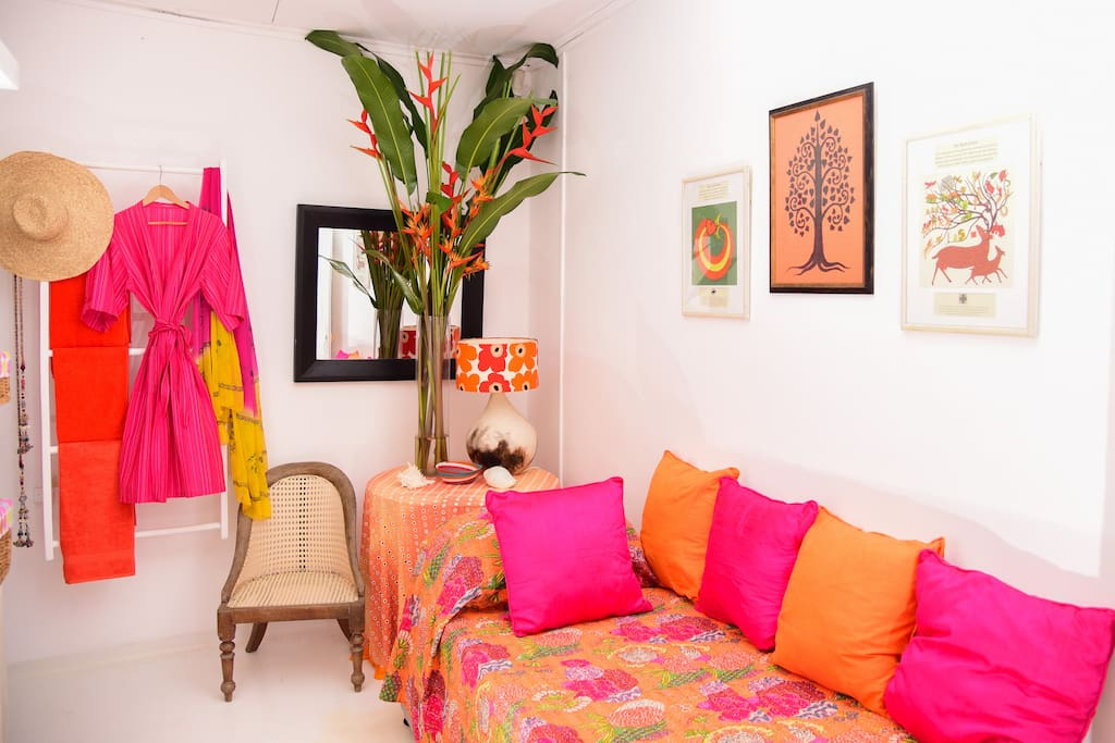 Cozy room with brighter colors!
