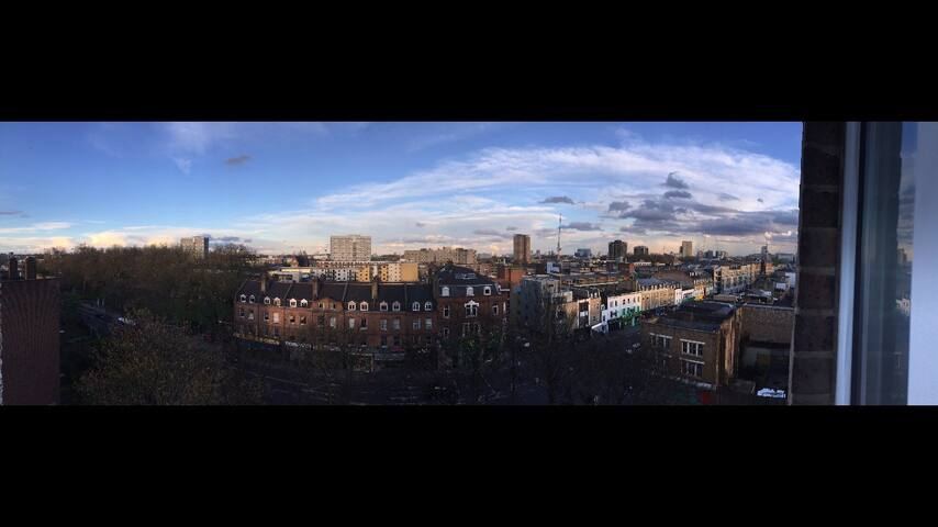 Panoramaic views over East London