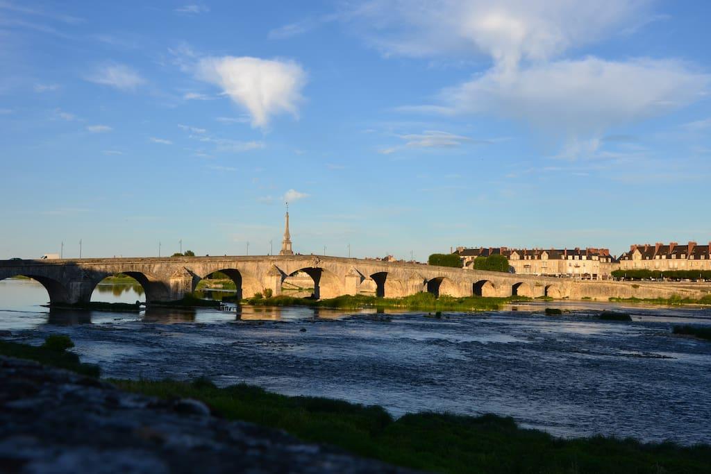 Pont Jacques Gabriel -centre Blois.