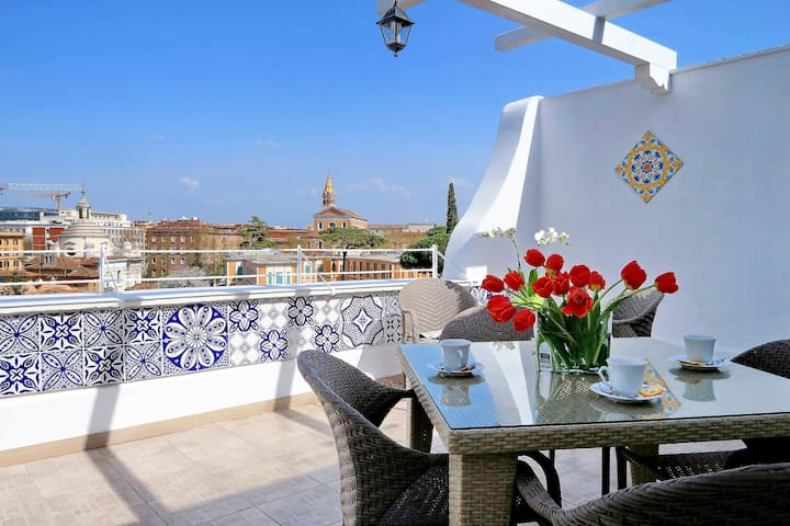 COLOSSEUM TERRACE LUXURY APARTMENT - 6 PEOPLE - Roma - Apartemen