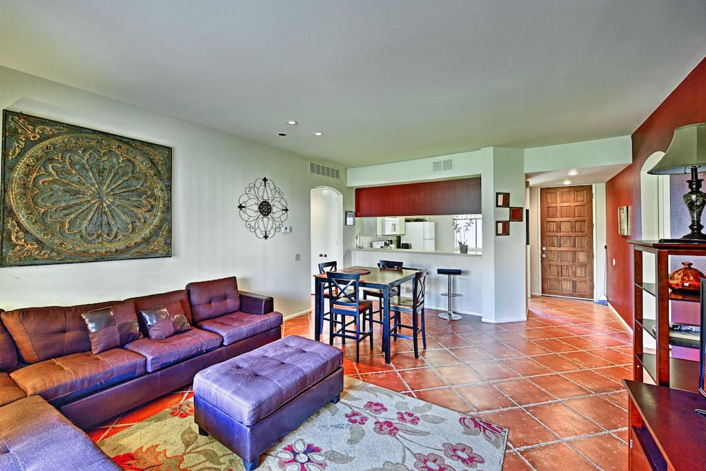 The interior is well-appointed, featuring all the comforts of home.