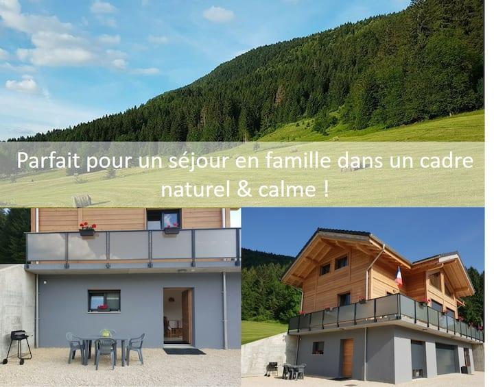 Appartement Monts Jura entre Mijoux et Lélex