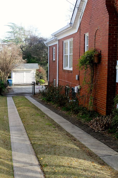 Ample parking space in the driveway, behind the house and along the street