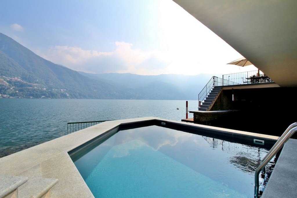 Private pool and a stunning view of the lake