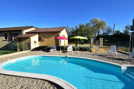 Holiday home among cherry trees, with swimming pool at Saint-Laurent-la-Vallée (4 km)